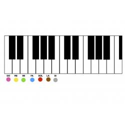 Piano à colorier