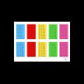 10 roues des tables de multiplication
