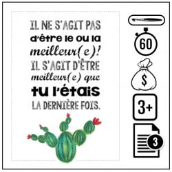 Affiches motivation « cactus »