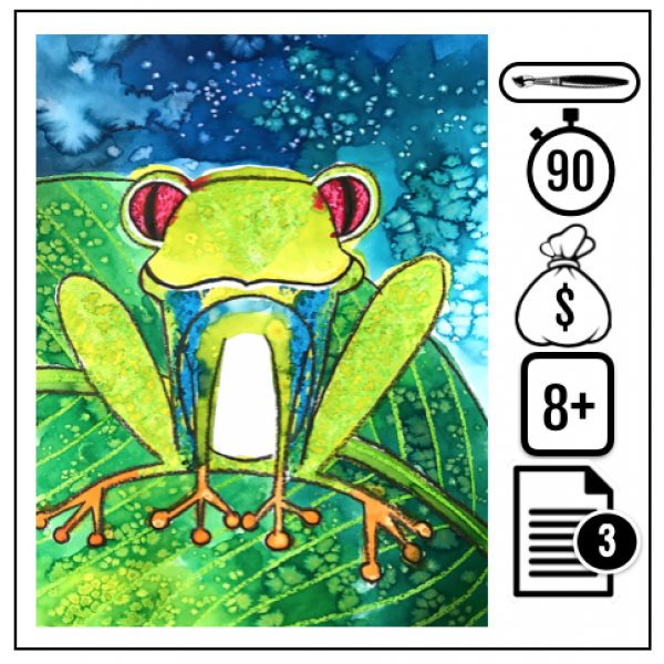 Rainette aux yeux rouges (grenouille)