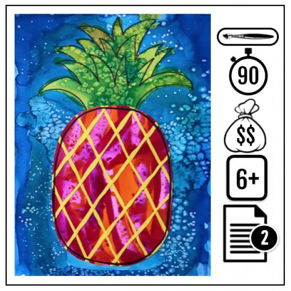 Ananas coloré