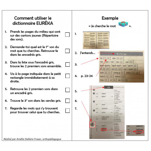 Procédurier dictionnaire Eurêka