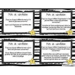 Mots de substitution (cartes à tâche)