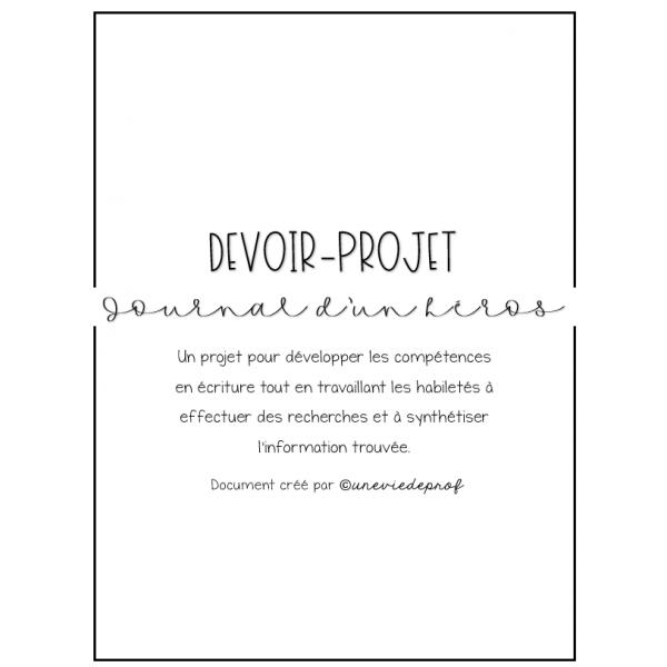 Devoir-projet_Journal d'un héros