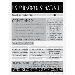 Article de journal_Phénomènes naturels
