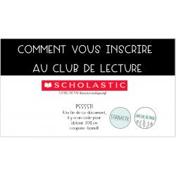 S'inscrire au Club de lecture Scholastic