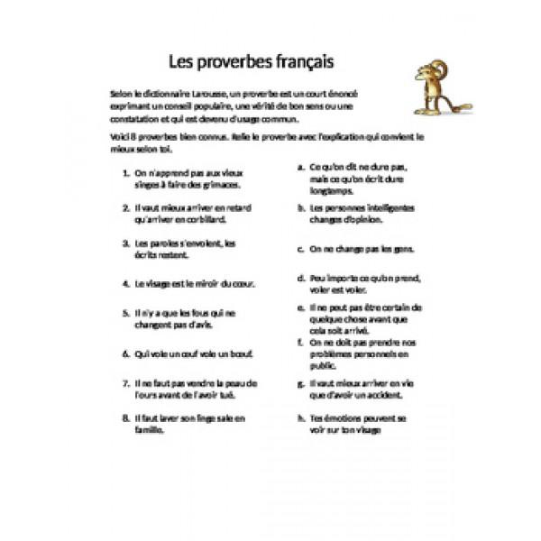 Les proverbes français