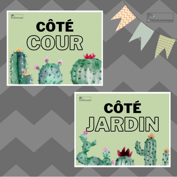 Côté cour côté jardin - Modèle cactus