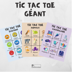 Tic tac toe géant - Art dramatique