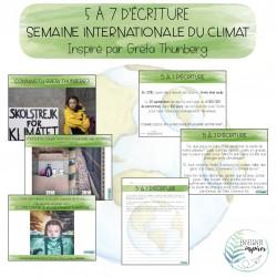 5 à 7 d'écriture - Semaine du climat