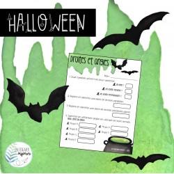 Halloween - Droites et angles