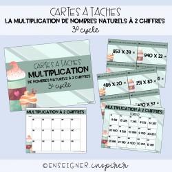 Cartes à tâches multiplication à 2 chiffres