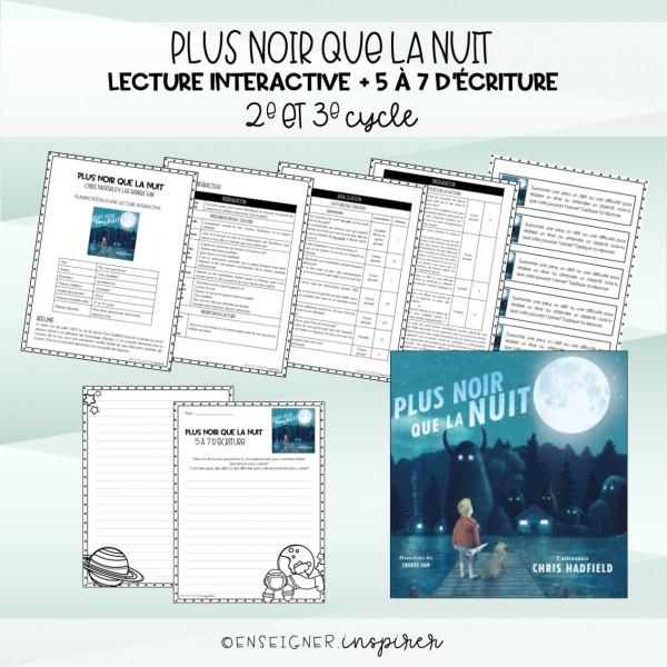 Plus noir que la nuit: lecture interactive&5à7