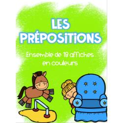 Les prépositions - Affiches