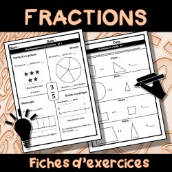 Les fractions : 100 fiches + corrections