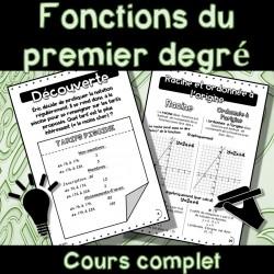 Fonctions du premier degré