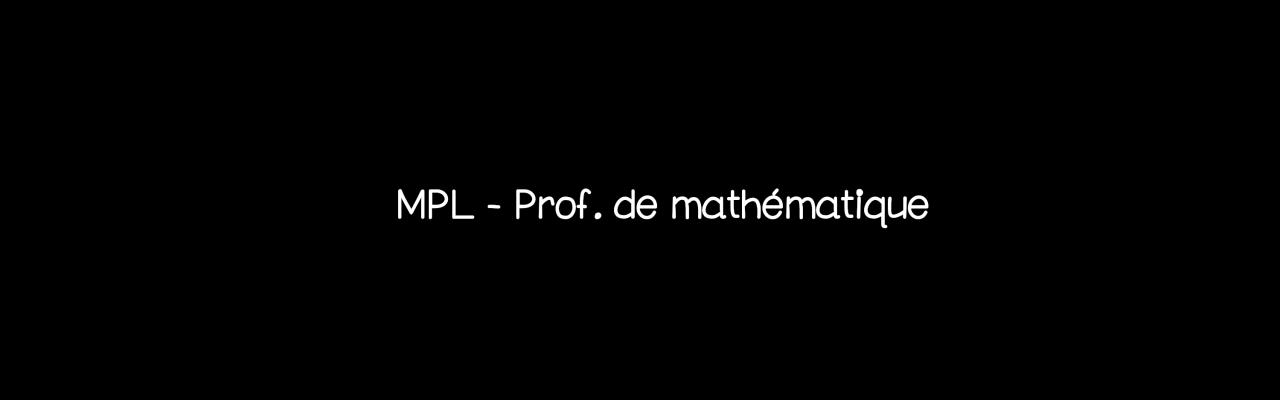 Mathématiques welcom