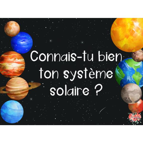 Connais-tu bien ton système solaire?