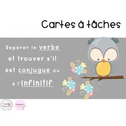 CAT - Repérer le verbe (conjugué/infinitif)