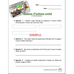 Examen Univers social : Nouvelle-France vers 1645
