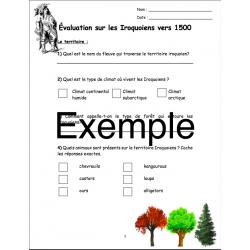 Évaluation / examen sur les Iroquoiens vers 1500