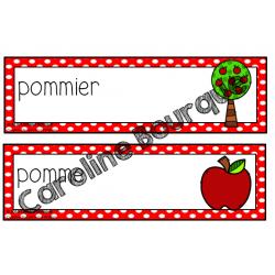 Mots étiquettes - pomme