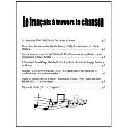 Le français à travers la chanson
