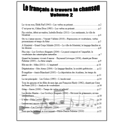 Le français à travers la chanson - volume 2