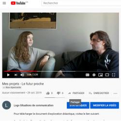 Mes projets - Le futur proche - Vidéo
