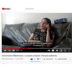 Conversation téléphonique - Passé composé - vidéo