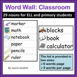Les mots anglais la salle de classe: Classroom