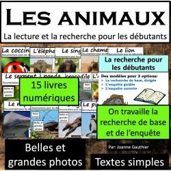 Les animaux: lecture et recherche pour débutant