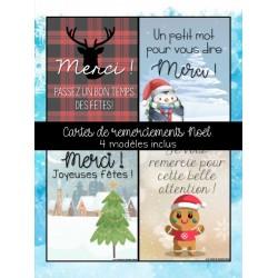 Cartes remerciements Noël