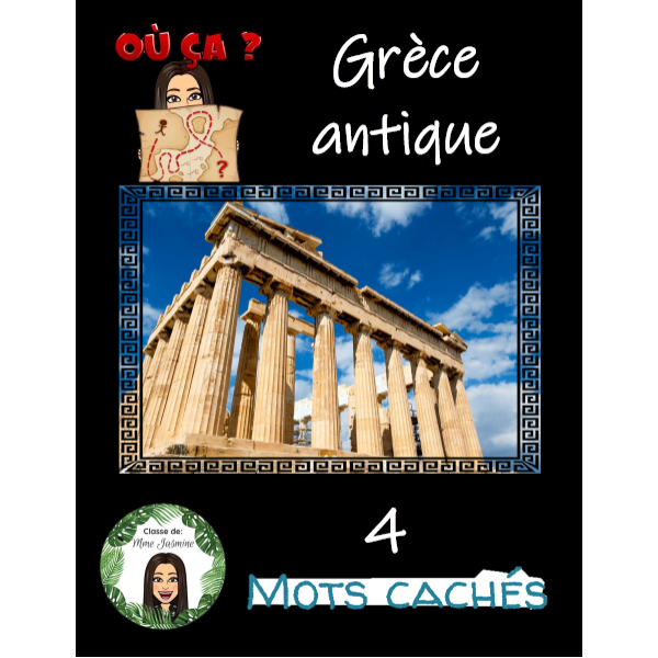 4 mots cachés - Grèce antique