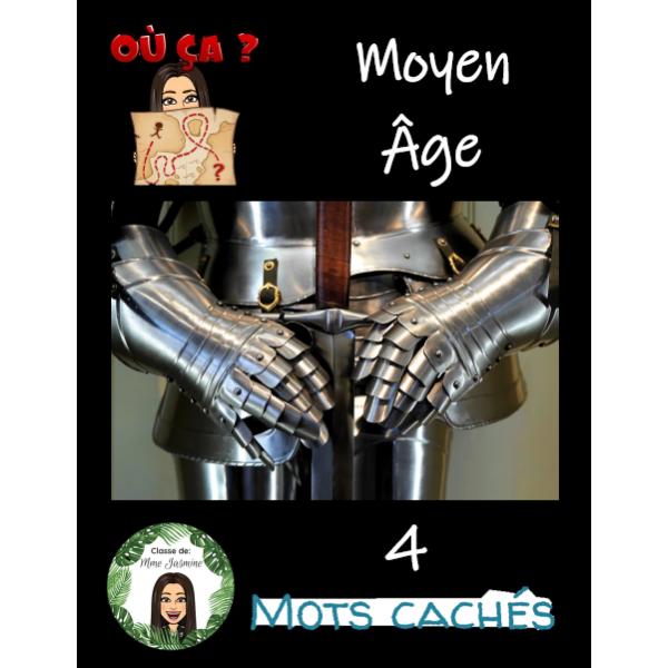 4 mots cachés - Le Moyen Âge
