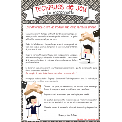 Affiche sur les marionettes (le jeu)