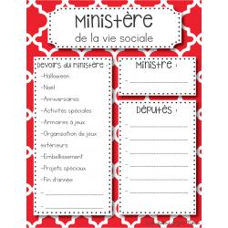 Les ministères en classe