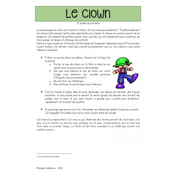 Le clown - art dramatique