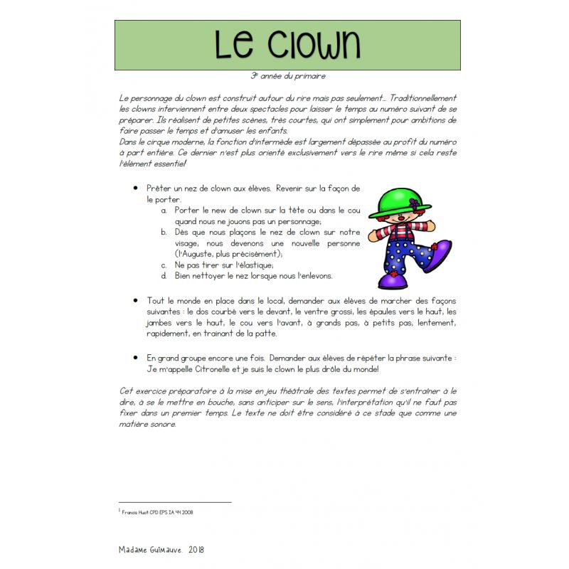 Le Foyer Art Dramatique : Le clown art dramatique