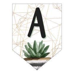 Banderole avec 26 lettres de l'alphabet - CACTUS