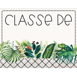 Affiche classe + bureau élève - CACTUS