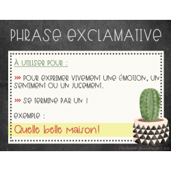Affiches type de phrases - CACTUS