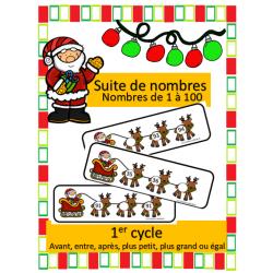 Suites de nombres 1 à 100 - Noel