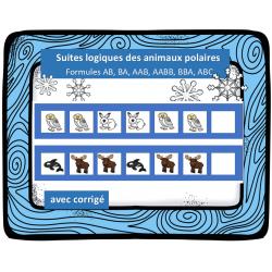 Suites logiques - Les animaux polaires