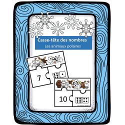 Casse-têtes des nombres - Animaux polaires