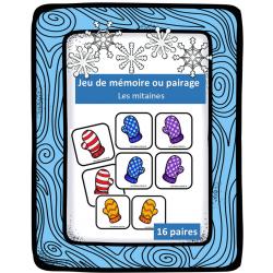 Jeu de mémoire ou de pairage - Les mitaines