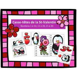 Casse-têtes des nombres - St-Valentin