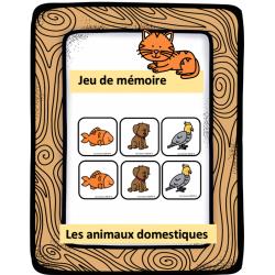 Jeu de mémoire - Les animaux domestiques