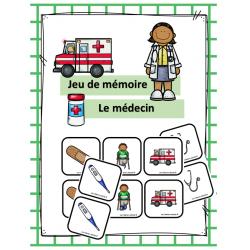 Jeu de mémoire - Médecin