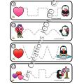 Tracés préscolaire - Les pingouins de St-Valentin